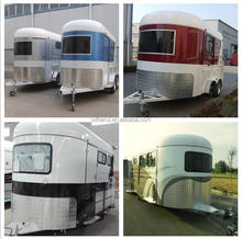China high quality angle load 2 horse trailer L860 in aluminium frame&galvanized chassis