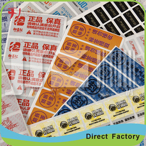 new arrive hgh quality great reputation and top selling scratch off sticker, adhesive sticker with printing for cable