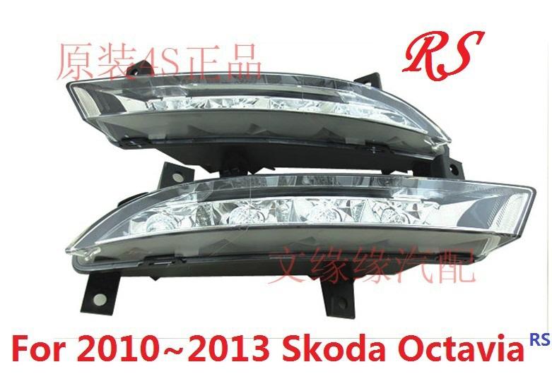 2009 ~ Skoda Octavia RS из светодиодов дневного бег лёгкие, 2 шт. / комплект, Черный цвет, 15 W 12 v, 6000 K
