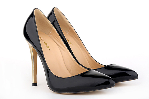 Get Quotations · Size 35-42 2015 Fashion Brand European Patent Leather  Golden Heels Slip-On Women 276bb34e7599