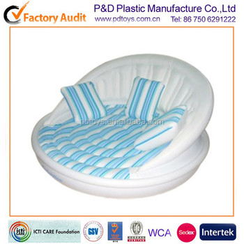 Pvc folding indoor inflatable chaise longue sofa bed buy for Chaise longue pvc blanc