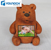 Very cute interesting interactive lcd screen teddy bear design for boys and young girls 22 inch lcd tv kid toy