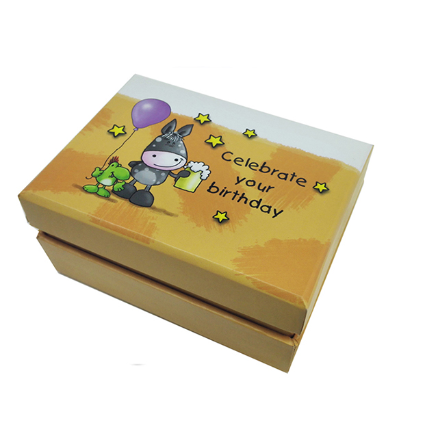 Best selling cartoon wedding favors clear kraft paper jewelry box