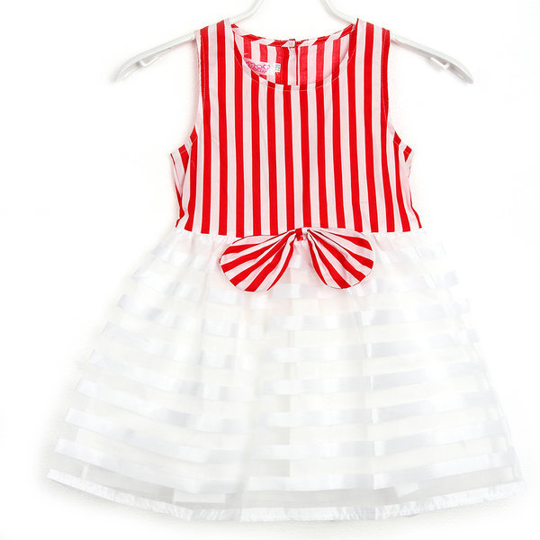 Super Baby Kids Striped Tutu Bowknot Sleeveless font b Dress b font Baby Girls font b