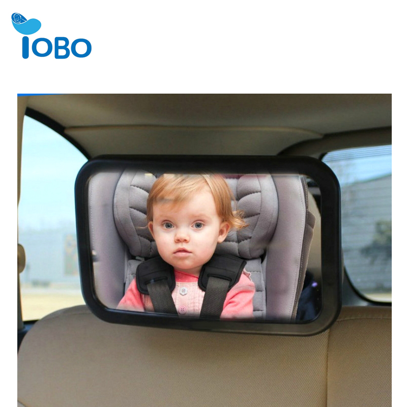 Baby Backseat Mirror for Car View Infant in Rear Facing Car Seat Best Newborn Safety With Secure Headrest Double-Strap