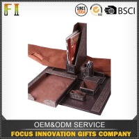 High Standard Promotional Price luxury desk organizer set brown