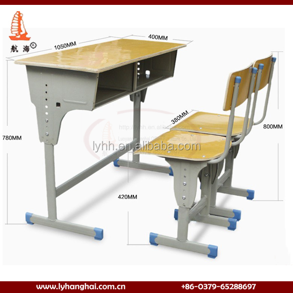 Studying Table Sizes : ... Study Classroom Standard Size Student Table Steel School Desk Chair