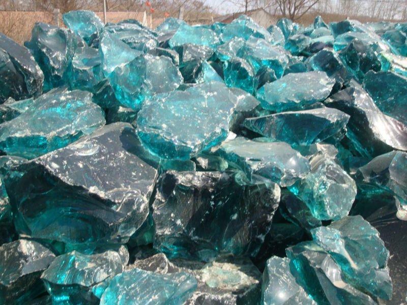 Colourful Decorative Glass Rock For Sale