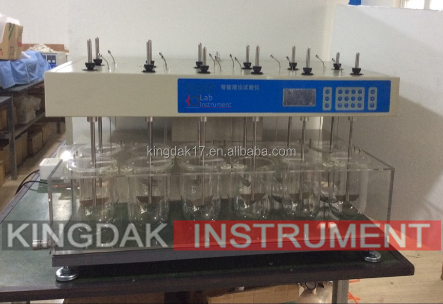 KRS-12S Medical Dissolution Tester has 12 vessels and 12 poles/ Automatic Tablet/Tablet Dissolution Tester