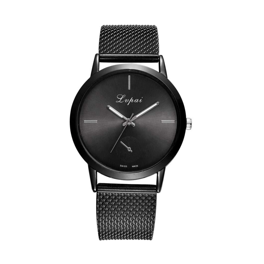 ManxiVoo Women Watches, Men Women Silicone Mesh Belt Quartz Round Face Bracelet Watch Casual Analog Wrist Watches