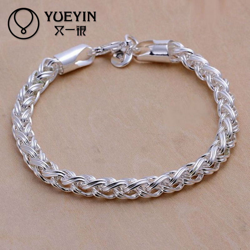 Серебряный толстый браслет женский