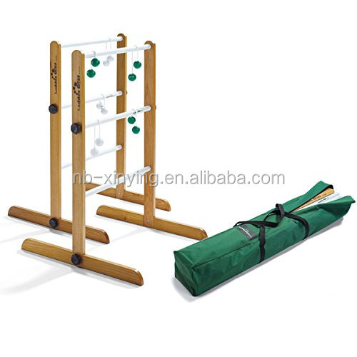 Outdoor Game Wooden Double Ladder Toss Game with 2 ladder toss /Wooden Toss Game with carry bag