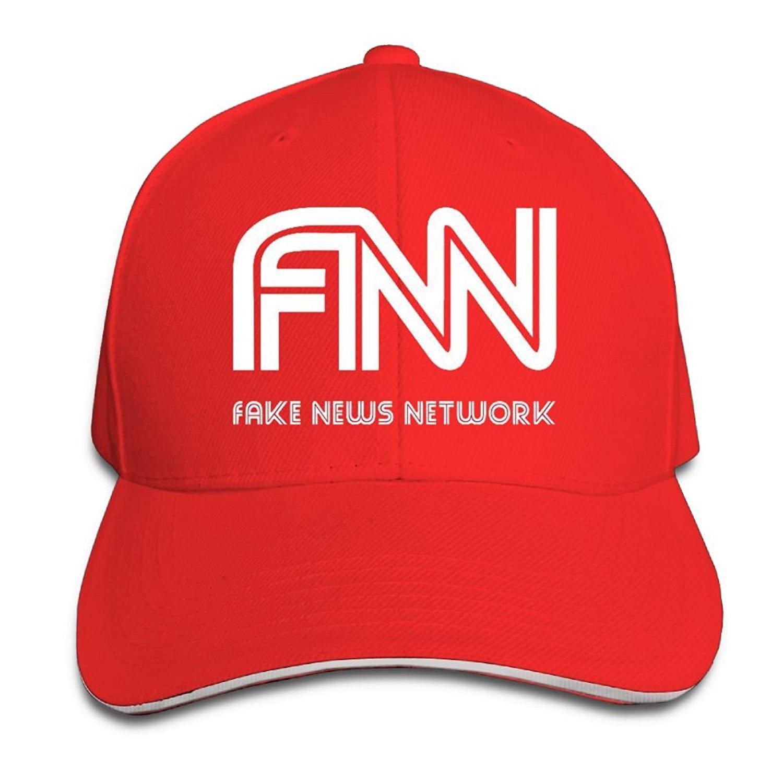 Get Quotations · Quzim Baseball Cap Polo Safari Dad Hat Peaked Cap Fake News  Network 3ba376b67488