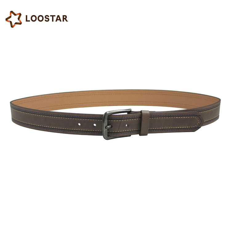 Graceful men Leather Belt with Two Alloy Leaves, Two Colors for Choice