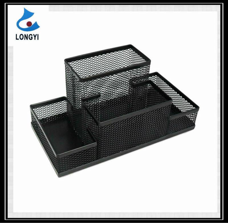 Office Products Metal Mesh Stationery Set Pen Holder With Memo Pad Holder