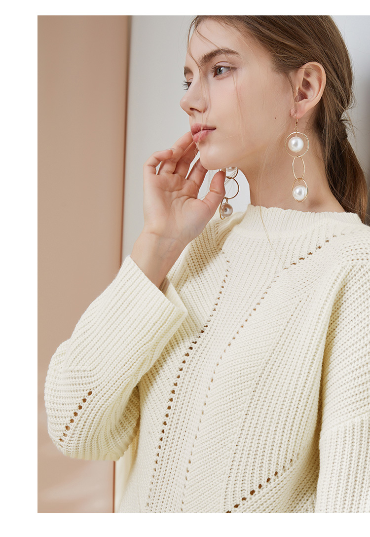 Custom color free sample ladies women knit sweater pullover 2019