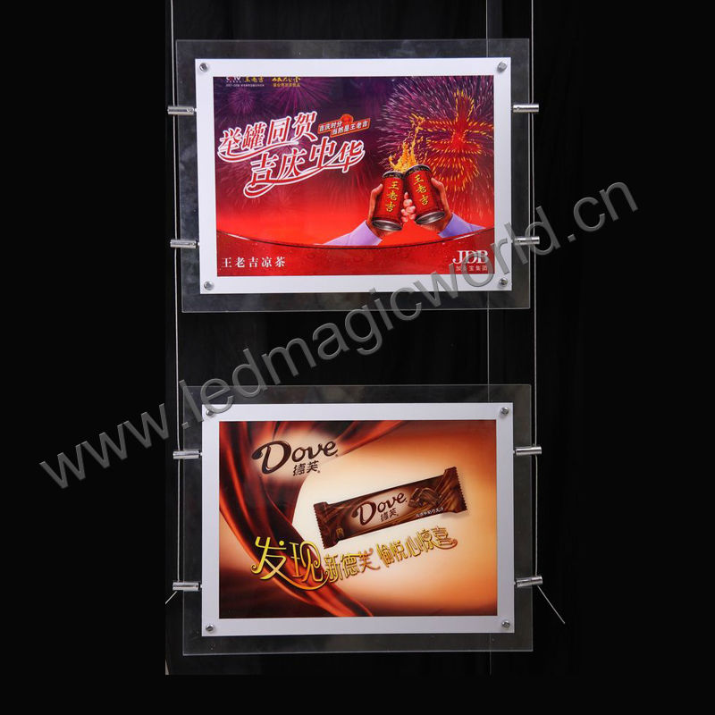 Super Slim Transparent Crystal LED advertising display frame