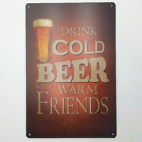 Cold Beer Retro Metal Poster Art Painting Metal Signs Home Decor Pub Bar Wall Home Living Room Poster Iron Painting Signs