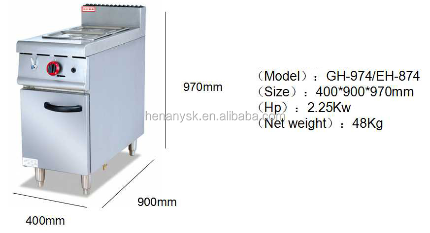 Vertical buffet gas heating stove keep soup warm 2tanks Stainless Steel Commercial Bain Marie Food Warmer