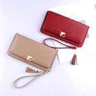 High quality multiple card slots and nice zip closure purse women lady Wallet