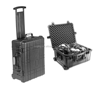 Waterproof shockproof smell free medical equipment trolley plastic case