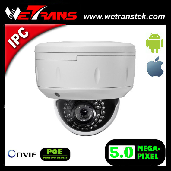 New Products TR-VIPD121 Vandalproof and Waterproof Onvif Low Illumination 5MP Dom Dom P2P IP CCTV Camera