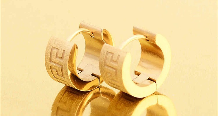Whole Daily Wear Ring Type Small Gold Earrings