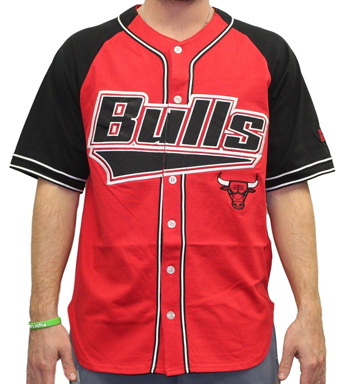 Get Quotations · Starter Mens Chicago Bulls Nba Baseball Jersey b90ad3b1d