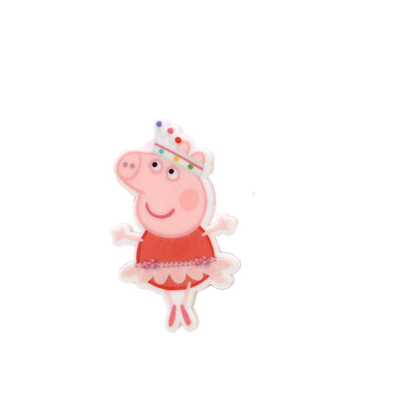 39*24cm cartoon Ballet pink pig <strong>resin</strong> planar for diy