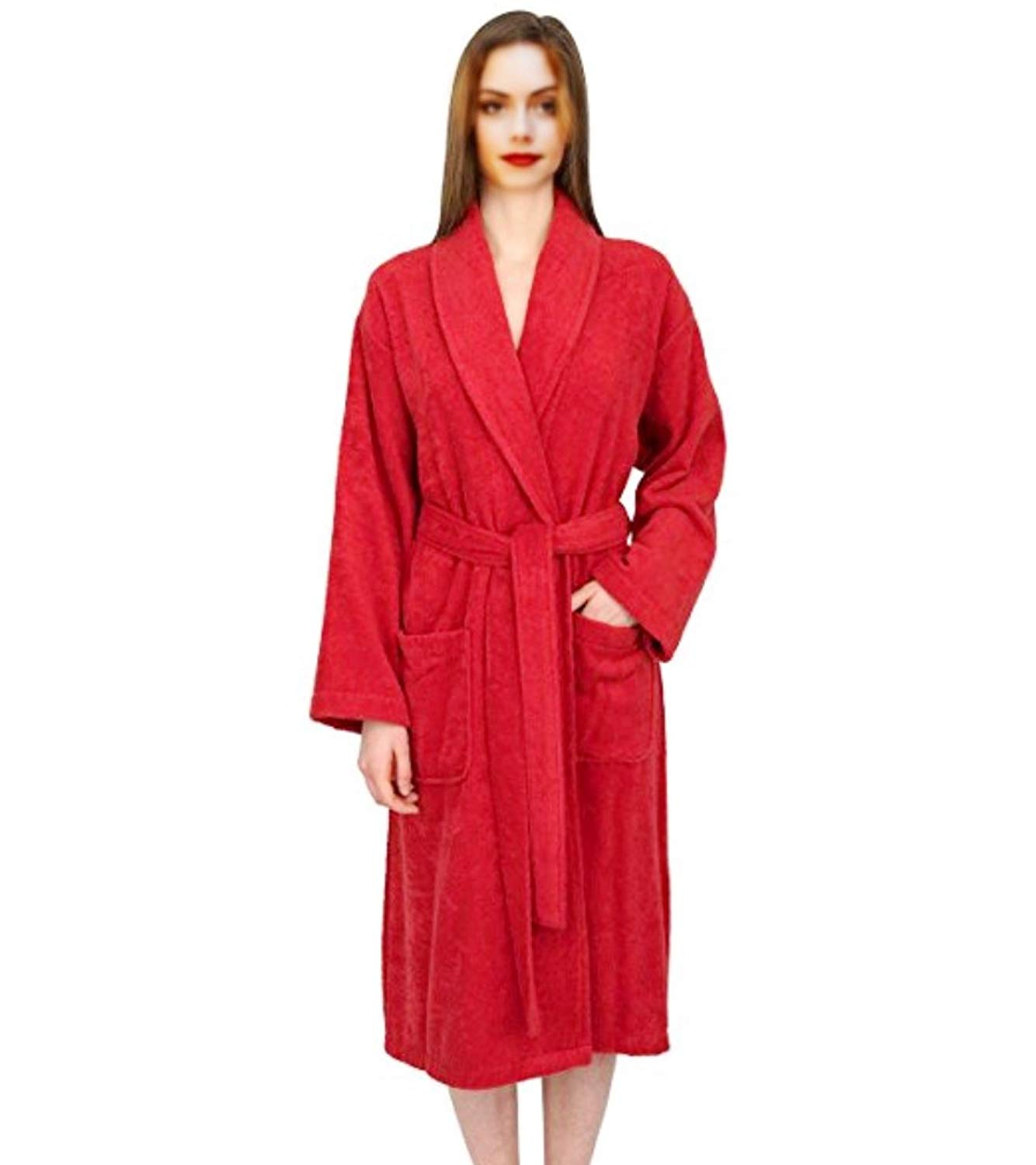 c6299fbae1 Get Quotations · ELEGANI Women s Terry-Robe