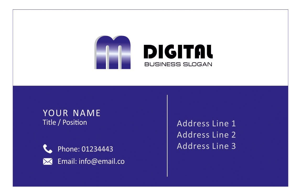 Personalised Logo Business Cards Custom Design Your Own Company Visiting Card - Front