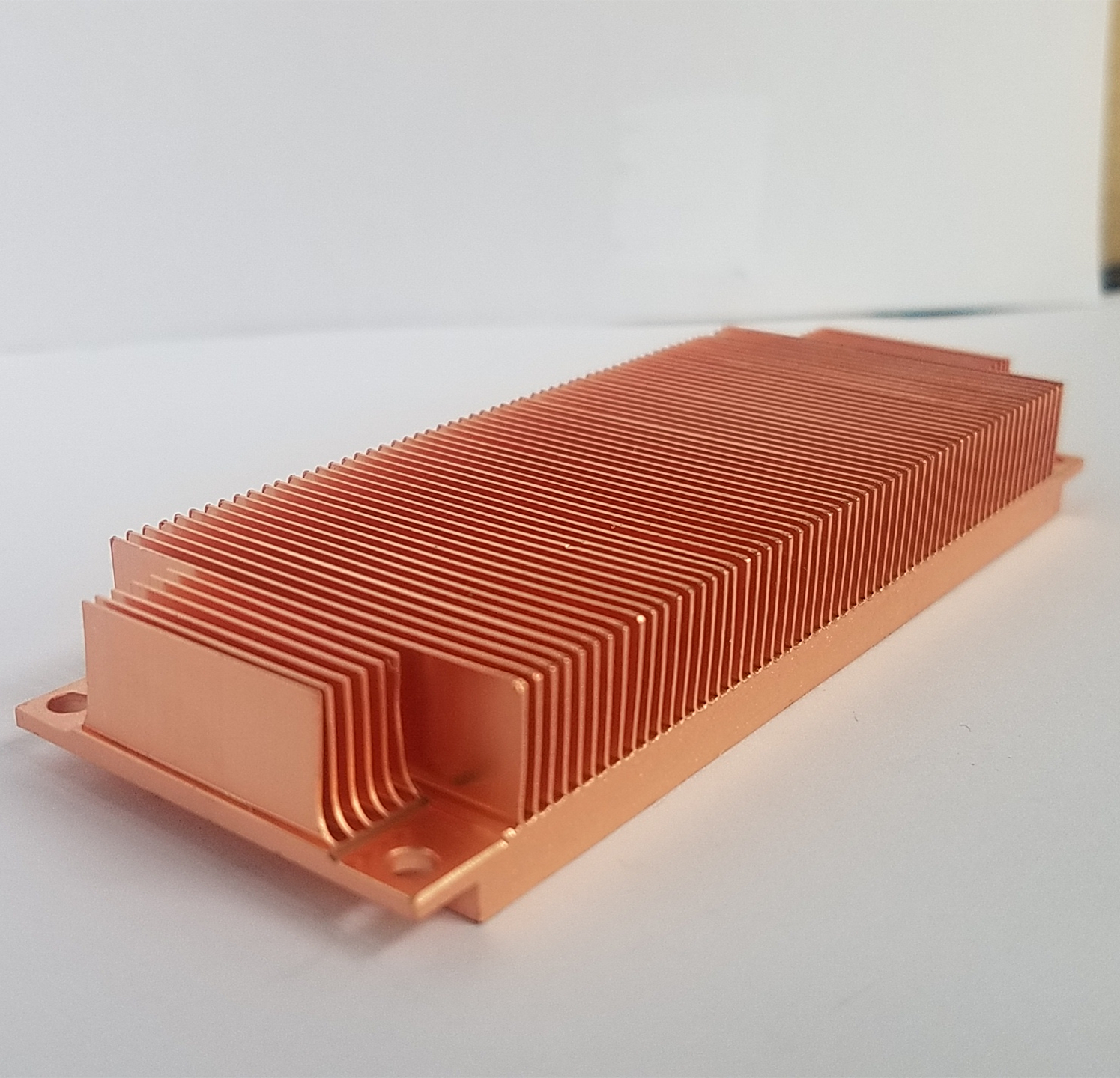 China supplier rectangle copper skived fin heatsink for cpu cooler