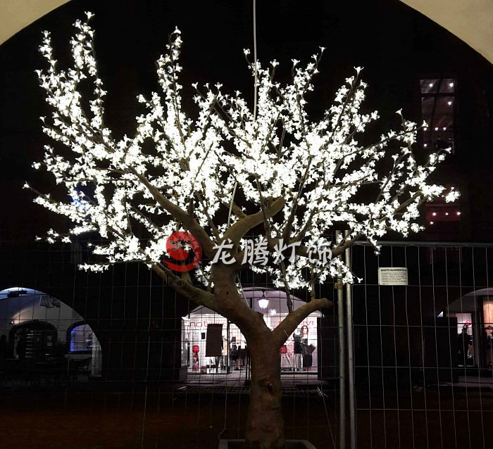 2.5m Artificial Cherry Blossom Led Outdoor Lighted Trees