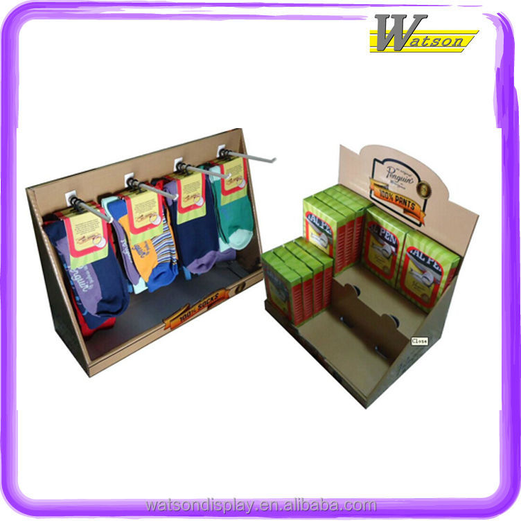 New wholesale Cardboard Display Stand for Socks insolesShoes oil Lamb Bulb tray counter display