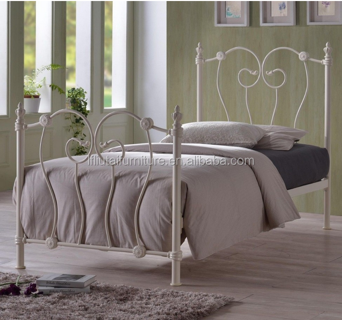 white 3ft metal Bed Frame - FREE NATIONWIDE NEXT DAY DELIVERY