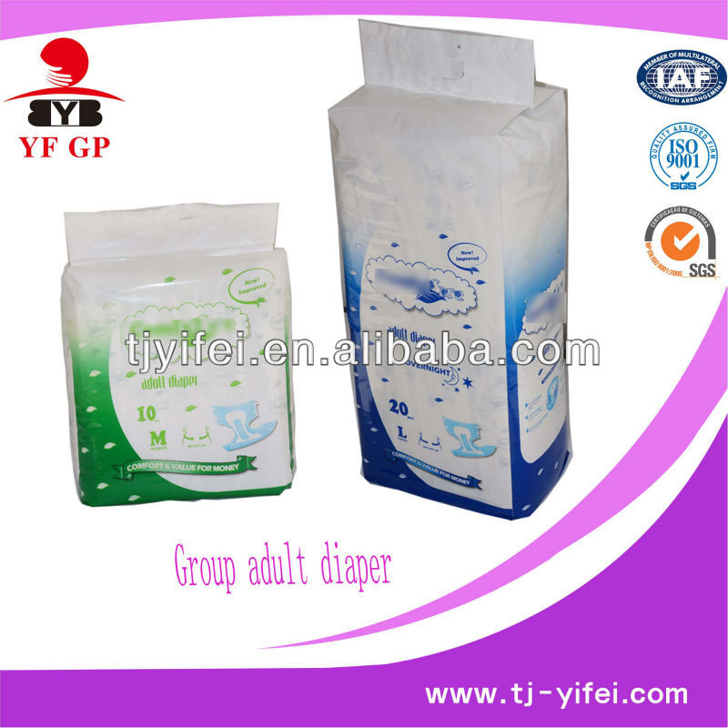 cheap disposale adult baby diaper from chinese production line