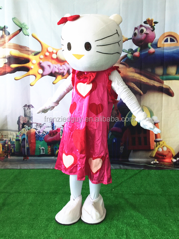 cute cartoon hello kitty mascot costume FGC-0028
