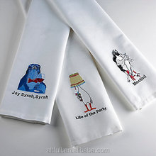 China factory super cheap custom logo printed professional cotton bar towel