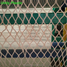 Customized polypropylene knotless fall protection safety net