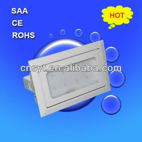 140 adjustable 20w rectangular Recessed led downlight, SAA CE LM-80 approved make in china