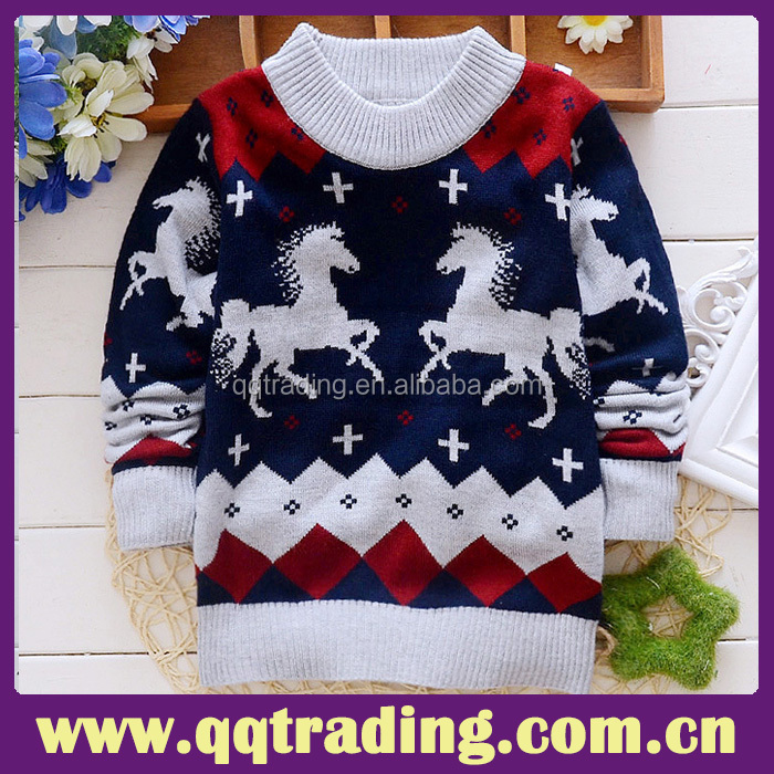 Top quality baby boy sweater designs baby knitted sweater