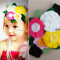 hot sale high quality promotional new product useful item handmade eco friendly felt hair rubber band for baby girls