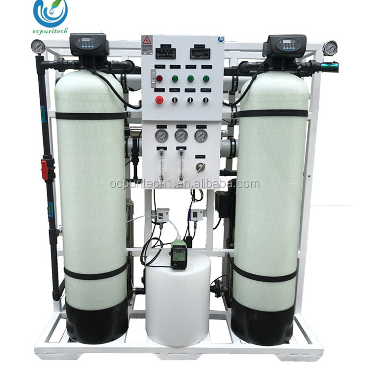750LPH Drinking water purifier machine for water treatment with 4040 FRP tank