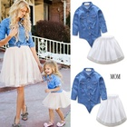 Wholesale Summer Fashion White Family Dress Girl Clothing