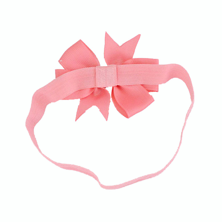 Wholesale the boutique grosgrain ribbon headband bow , 3 inch large hair ribbon bow for baby girls
