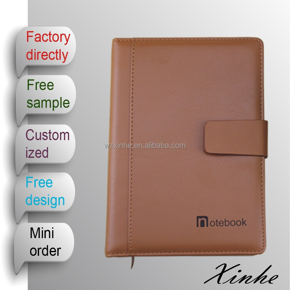 Customized Printed PU executive notebooks / leather journal for office