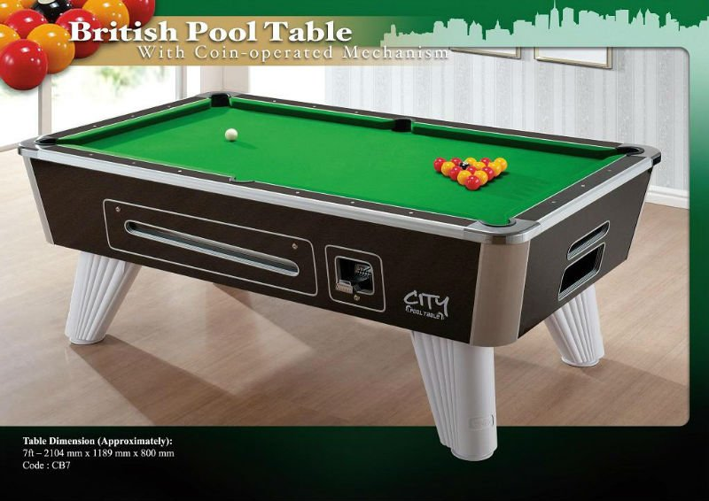 Coinoperated British Pool Table Buy Pool Table For Sale Product - British pool table