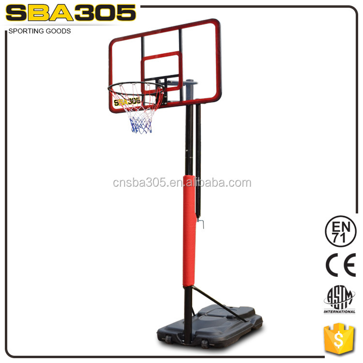 fiberglass deluxe durable sporting goods basketball stand