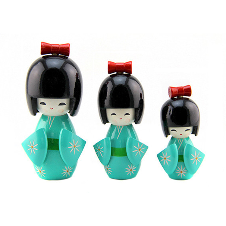 FQ brand small baby mini handmade wooden japanese kokeshi doll