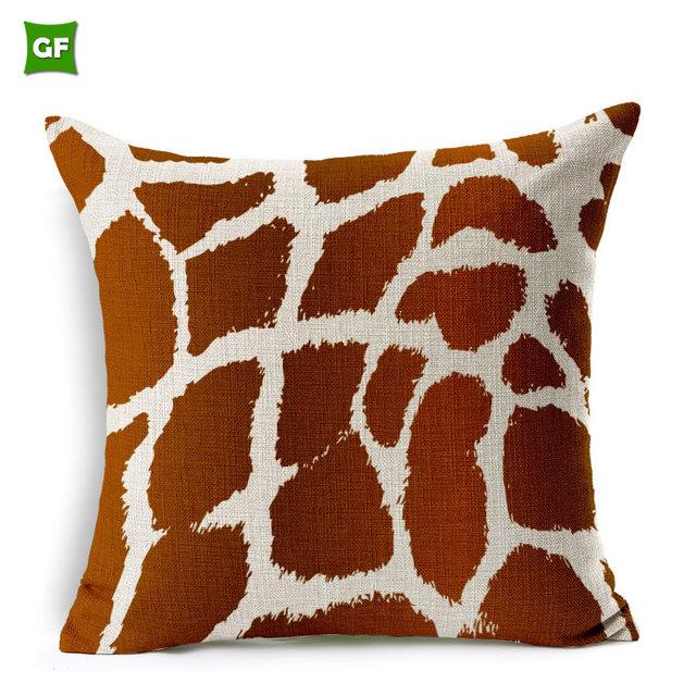 100% Poly Outdoor Custom Creative Animals Pattern Print Leopard Zebra  Luxury Chair Decor Cushion